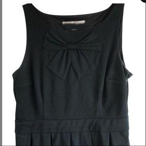 LC Lauren Conrad black A Line Dress W Bow Accent
